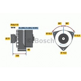 6033GB3019 ΔΥΝΑΜΟ BOSCH 24V 80A M/S ACTROS