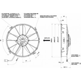 VA01-BP70/LL-36S (30102546) ΜΟΤΕΡ SPAL 24V ΠΡΟΩΘΗΣΗΣ